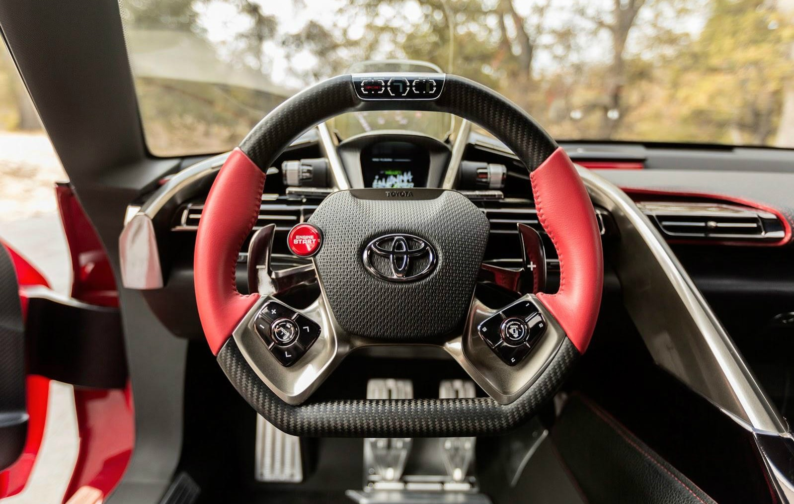 Toyota FT Steering Wheel front view