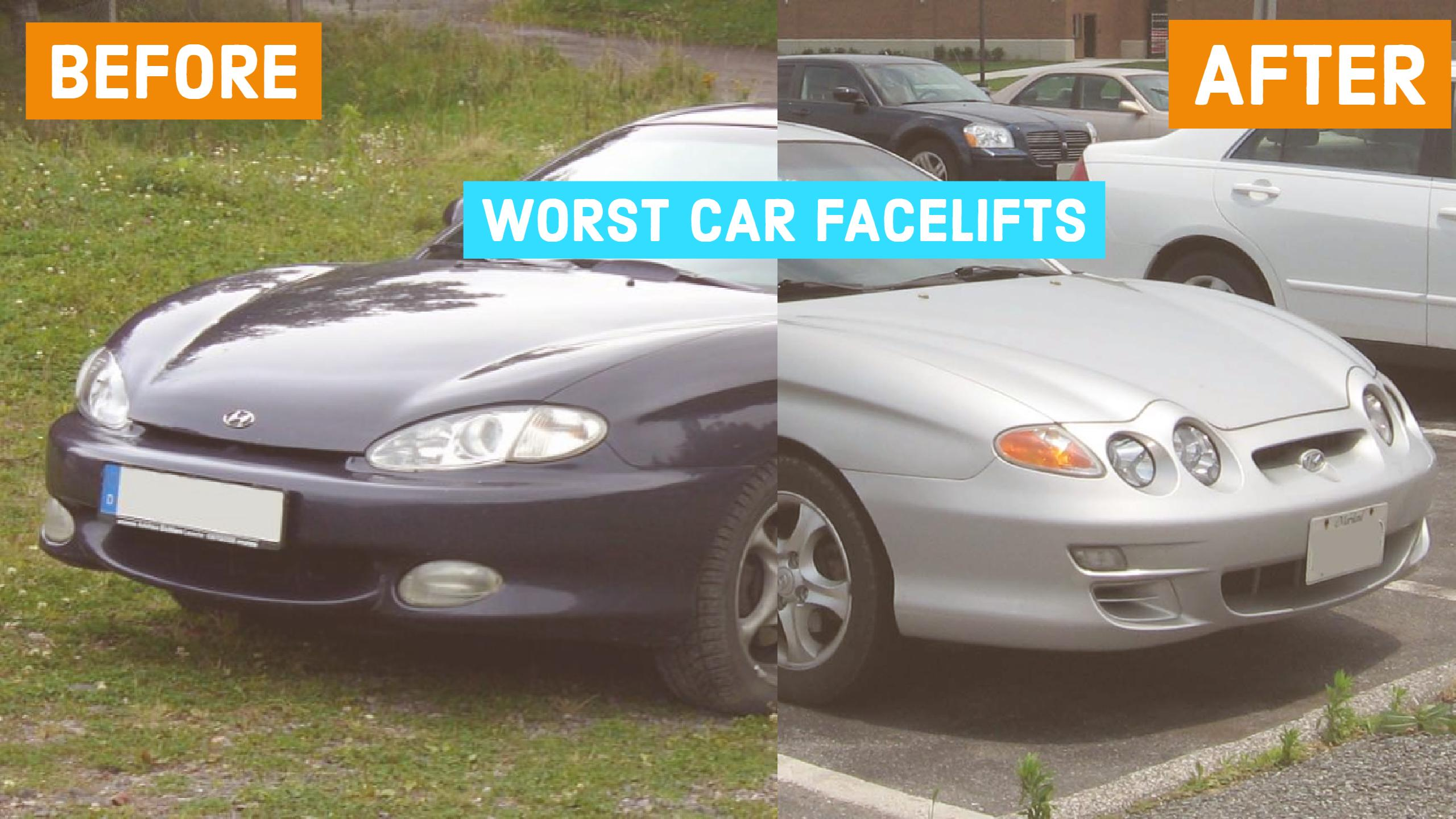 10 Worst Car Facelifts of all Time (Before And After Pics)