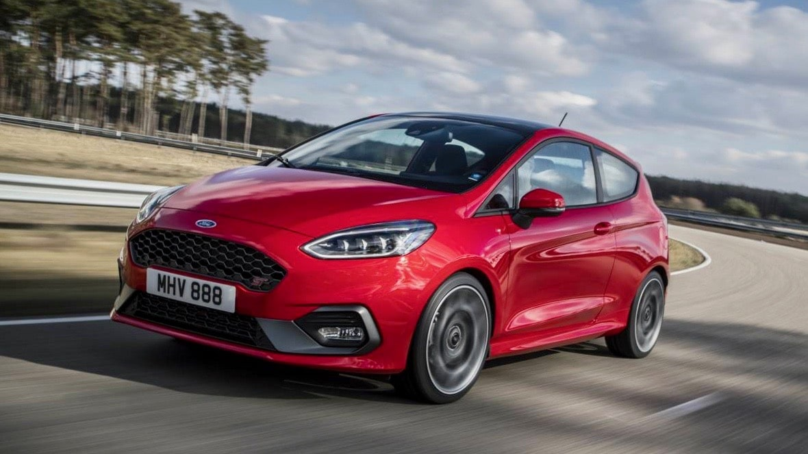 best sports cars under 30k 2019 Ford Fiesta ST red front 3/4