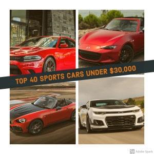 Sports Cars Under $30k